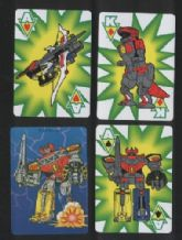 Non-standard playing cards Power Rangers, Robots